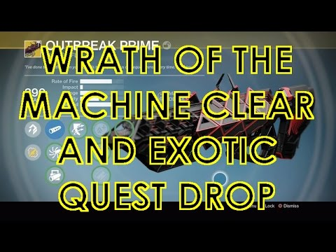 Wrath of the Machine Boss Fight and Exotic Pulse Rifle Quest!